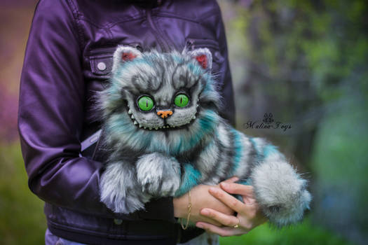 SOLD! Poseale toy/100% handmade Cheshire Cat
