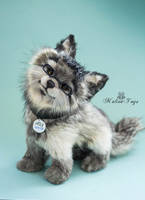 Poseable toy Commission: wolf cub