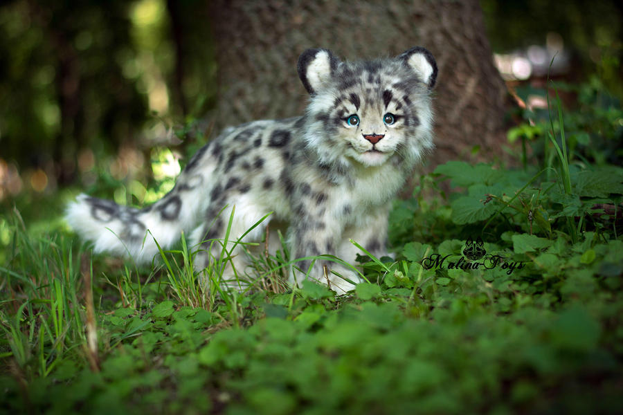 Sold Handmade Poseable Toy Snow Leopard Cub By Malinatoys