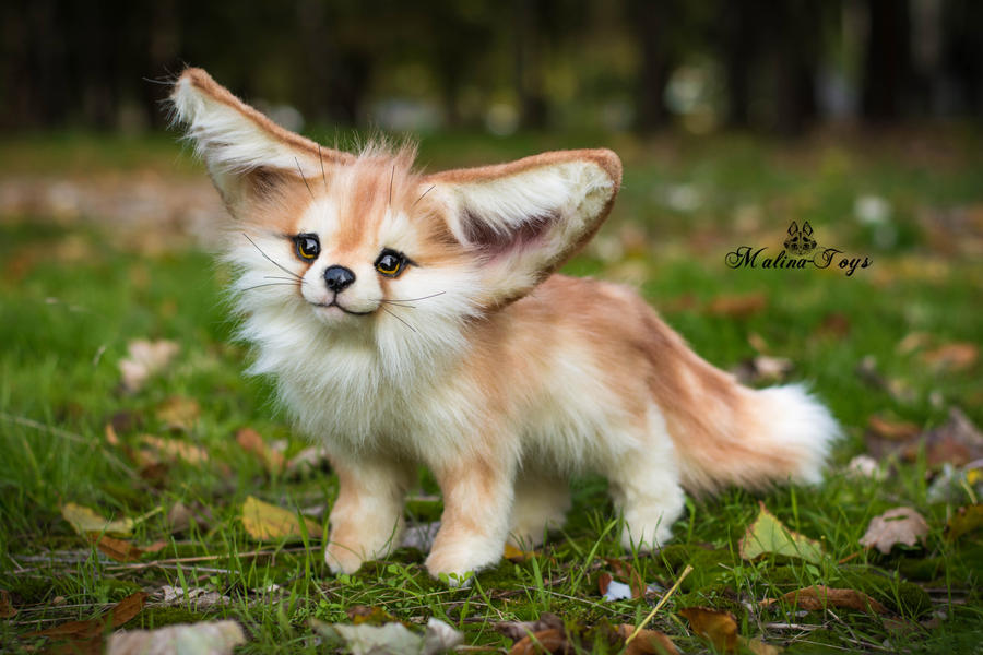 Sold Handmade Poseable Toy Fennec Fox By Malinatoys On