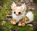 FOR SALE! Handmade poseable Winged fox