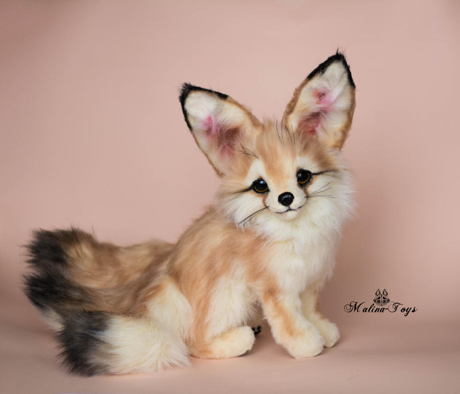 Poseable Toy Commission Fennec Fox With Three Tail By