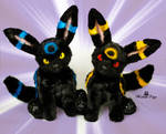 Poseable toy commission  Umbreon Pokemon