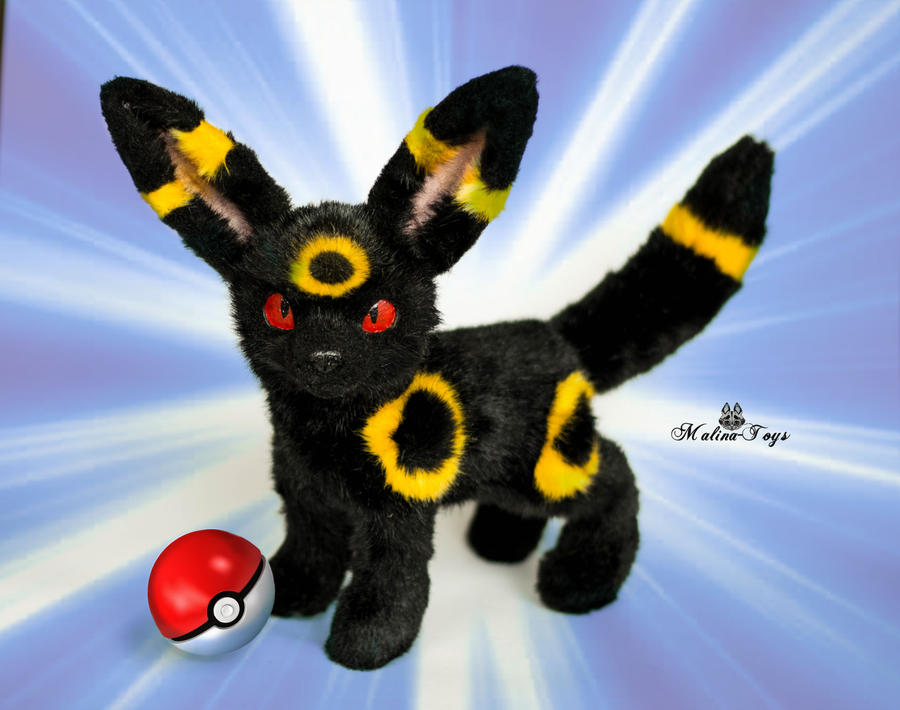 Poseable toy commission  Umbreon Pokemon by MalinaToys