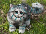 Poseable toy commission Cheshire Cat