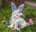 Poseable toy commission Sylveon Pokemon