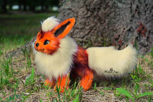 Poseable toy commission  Flareon Pokemon by MalinaToys