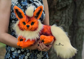 Poseable toy commission  Flareon Pokemon by MalinaToys