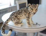 Poseable toy commission Snow Leopard
