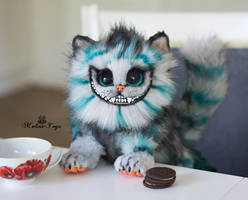 For Sale Baby Cheshire cat 100% handmade poseable by MalinaToys