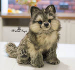 Poseable toy Commission wolf puppy