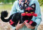 Poseable toy commission Pokemon Cat Litten
