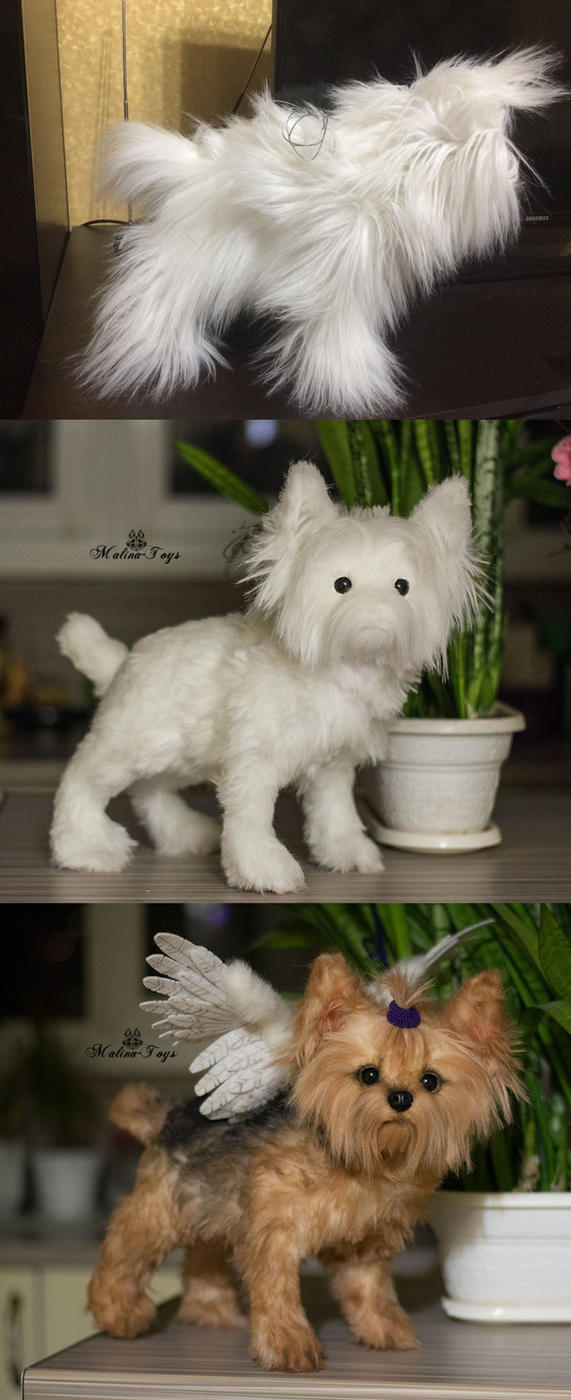 Poseable toy commission Yorkshire Terrier WIP by MalinaToys
