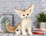 FOR SALE! Poseable toy Fennec Fox. 100% handmade!