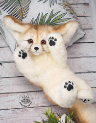 FOR SALE! Poseable toy Fennec Fox. 100% handmade! by MalinaToys