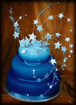 Starry Blue Cake