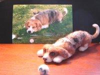 Millie Portrait Wool Sculpture by animal-artists