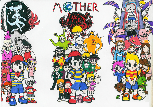 Another Earthbound Group Shot By Hyliaman