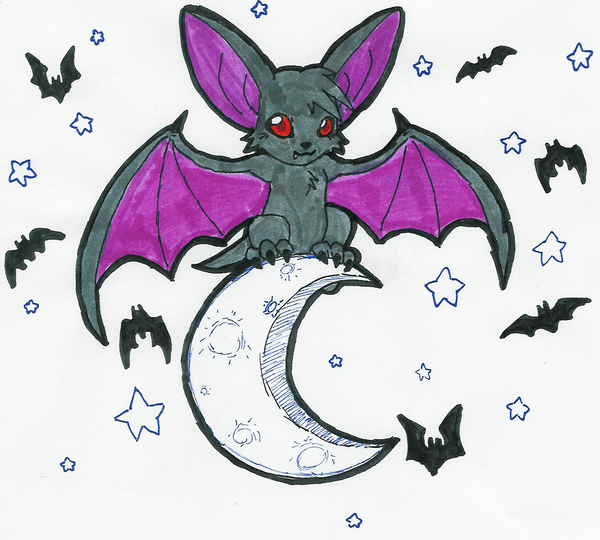 A cute little bat by hyliaman on deviantart for How to draw a small bat