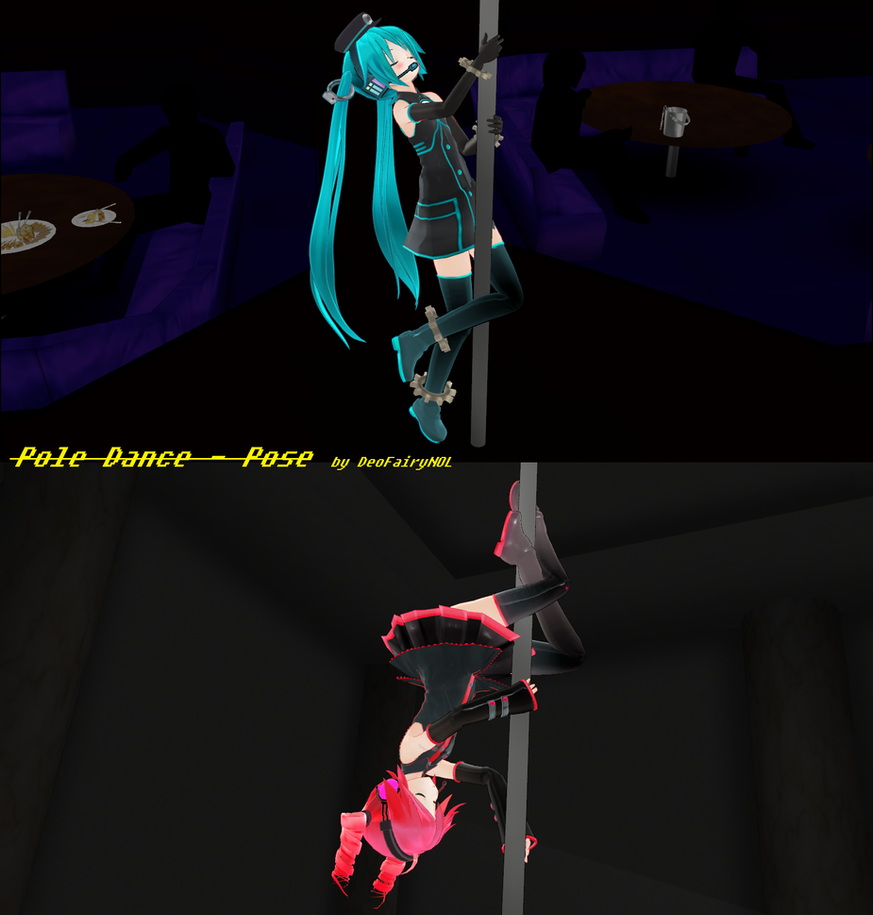 Mmd pole dance pose download by deofairynol on for Deviantart mmd