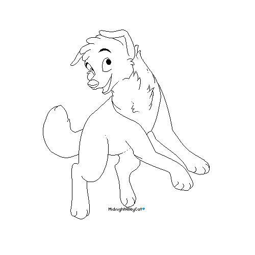 Line Art Dog : Chibi horse lineart