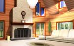 Log Cabin indoors