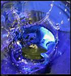 Falling in blue.