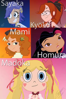 Madoka Magica (cartoon version) WIP