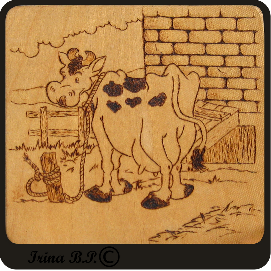 The happy cow by IrinaBP