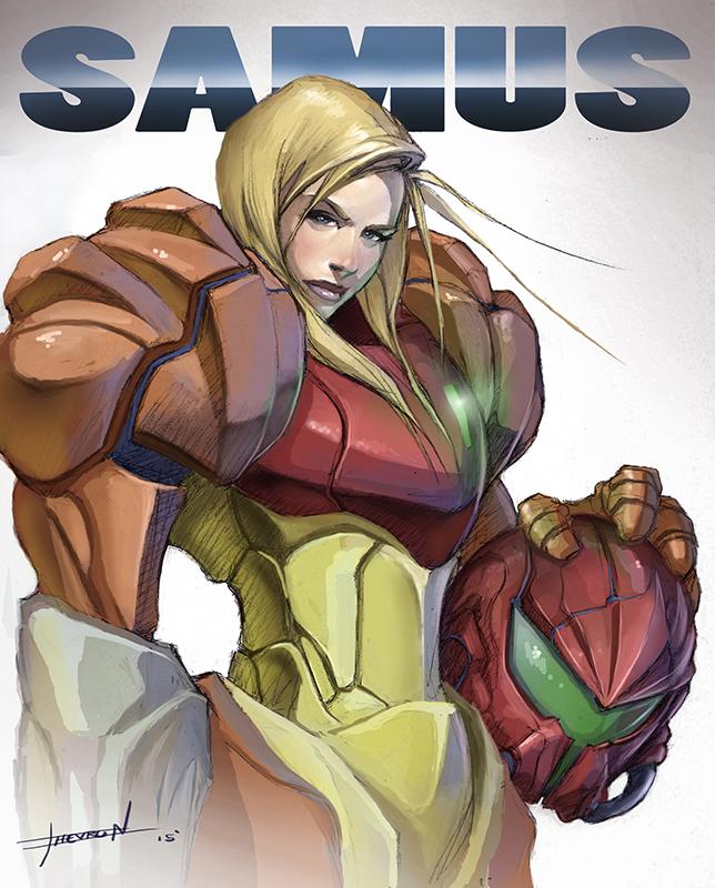 Samus - Super Metroid by ChevronLowery