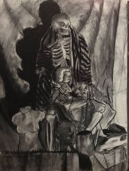 Drawing Class Charcoal final by votederpycausemufins