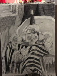 Charcoal still-life by votederpycausemufins