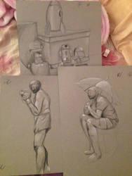 various drawings by votederpycausemufins