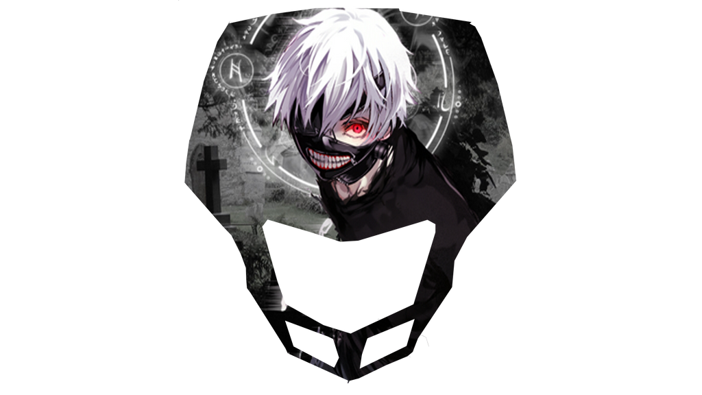 Xrm head sticker kaneki style by rv kun