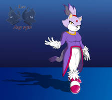 Blaze the Cat (My style) by Foxboy591