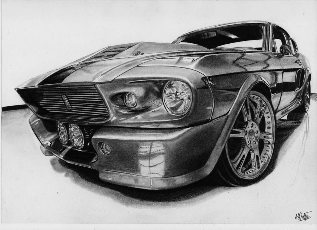shelby gt500 eleanor drawing by alainmi on deviantart. Black Bedroom Furniture Sets. Home Design Ideas