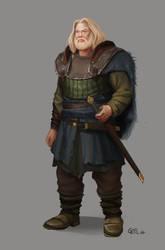 Medieval Warrior Concept by gizellekaren