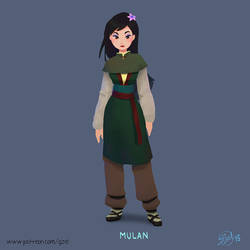 Mulan by gizellekaren