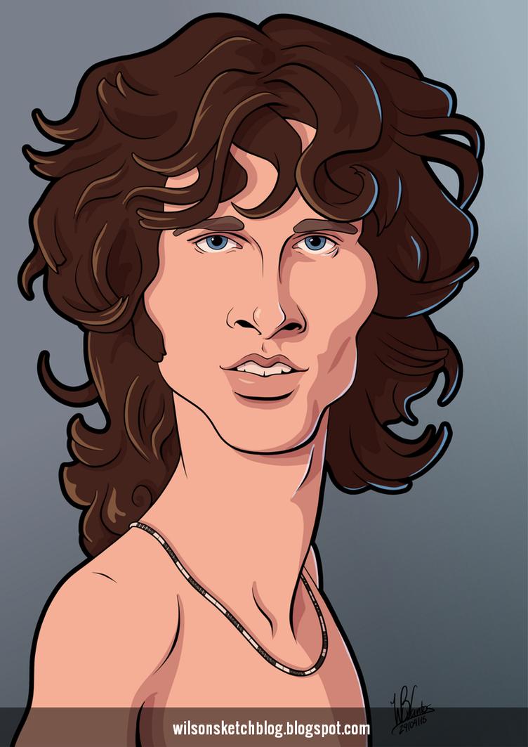Jim Morrison (Cartoon Caricature) by wilson-santos