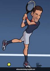 Novak Djokovic (Cartoon Caricature)