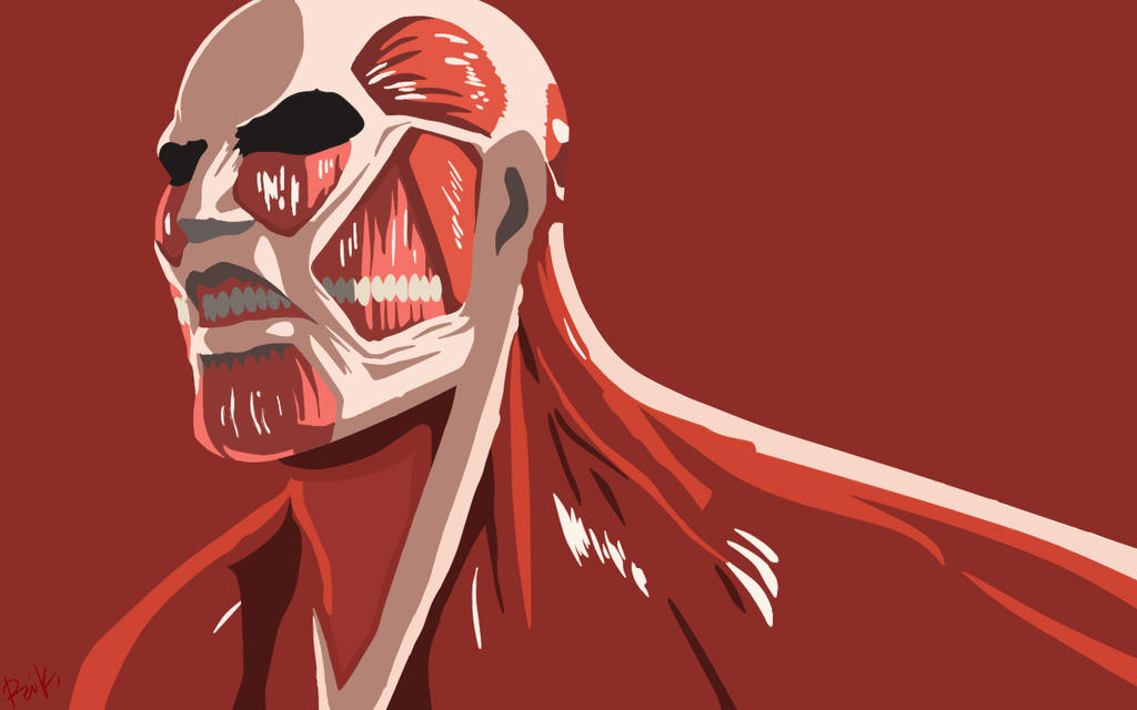 Minimalist Colossal Titan by KatsuragiRei on DeviantArt