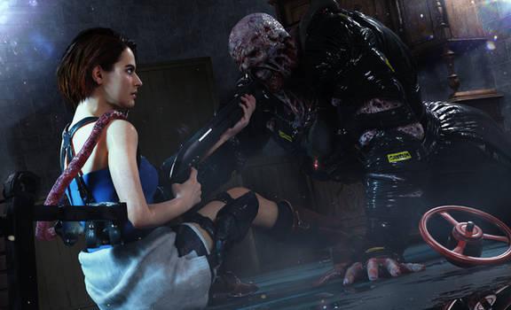 Resident Evil 3 Remake - Jill x Nemesis