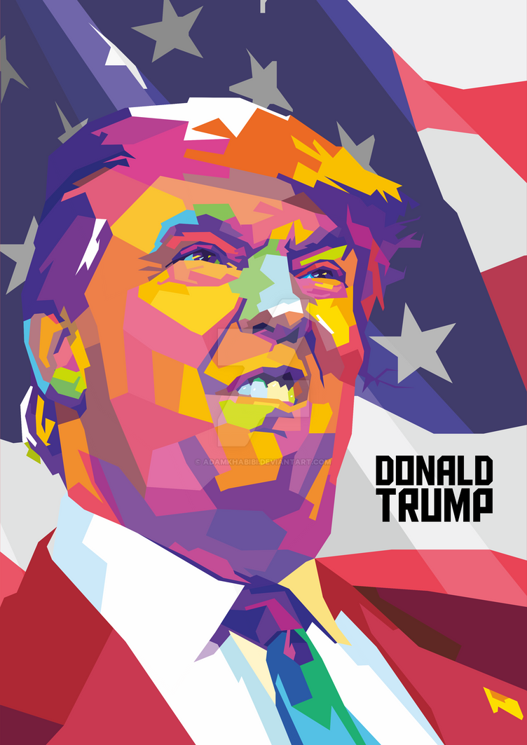 WPAP Donald Trump by AdamKhabibi on DeviantArt