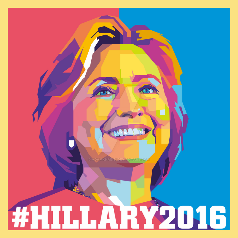 hillary clinton campaign poster 2016 by adamkhabibi on deviantart