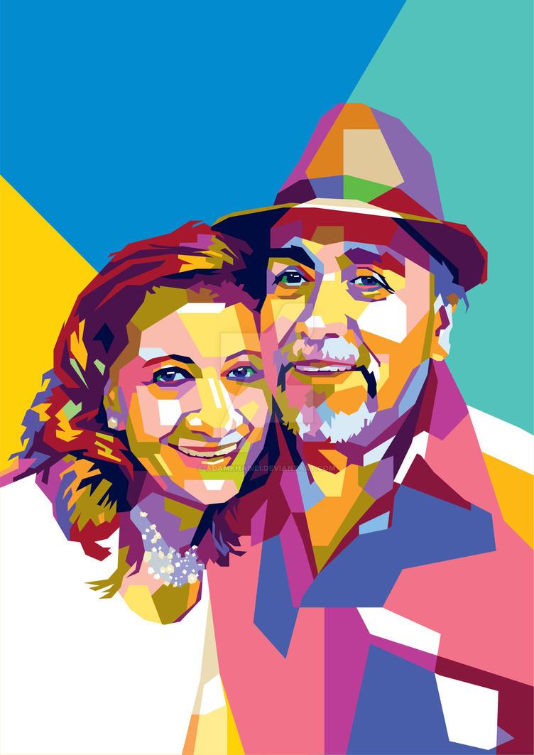 wpap pop art couple by adamkhabibi on deviantart