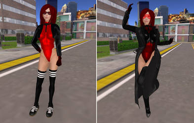 Scarlet Gravity before and after (SL fanart)