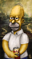 Homer Jay Simpson by l3raindead
