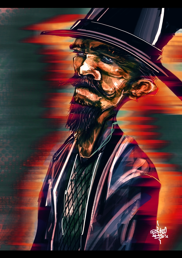 209. Old Chinese Man by l3raindead