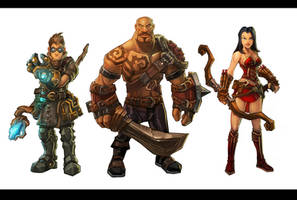 Torchlight Classes Illustration - The Lineup by Scuro