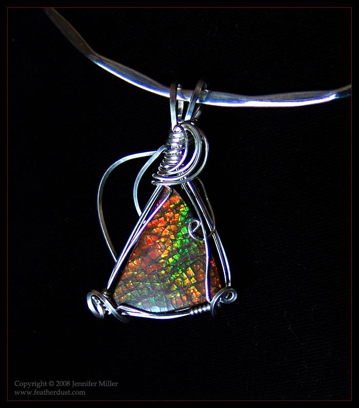 Trinity Ammolite Pendant by Nambroth